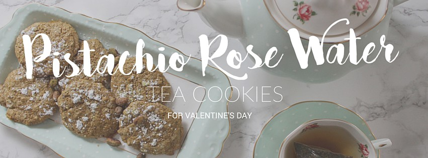 Pistachio Rose Water Tea Cookies