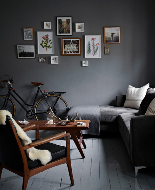 grey living room walls and floors
