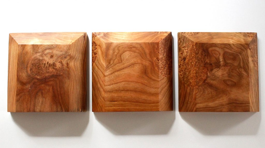 Marbleized Cherry Wood Floating Shelves