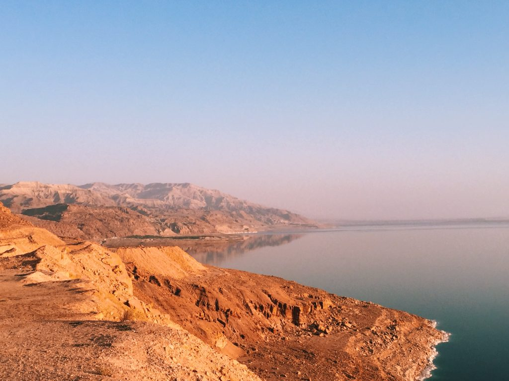 Dead Sea from Jordan - mountaintop view