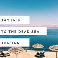 Daytrip to the Dead Sea in Jordan. Travel tips, where to stay, what it feels like to swim in the water, and more.