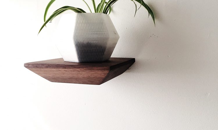 Faire & Goodwin walnut floating shelves